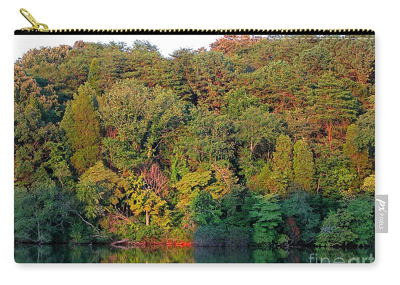 Landscape Carry-all Pouch featuring the photograph Colorful Sunset by Todd Blanchard