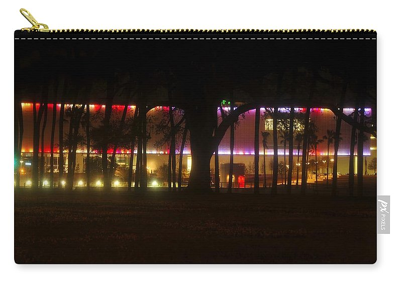 Tampa Bay Florida Carry-all Pouch featuring the photograph Colorful Tampa Bay Night by David Lee Thompson