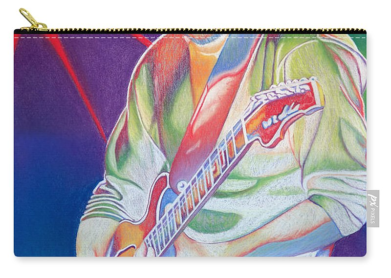 Phish Carry-all Pouch featuring the drawing Colorful Trey Anastasio by Joshua Morton
