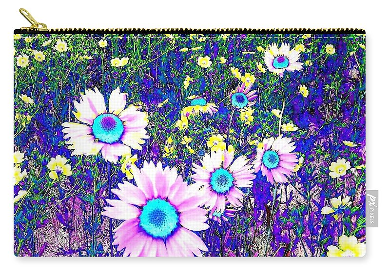 Photo Design Carry-all Pouch featuring the digital art Colormax 2 by Will Borden