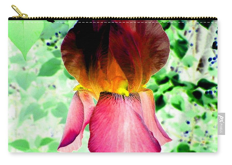 Photo Design Carry-all Pouch featuring the digital art Colormax 3 by Will Borden