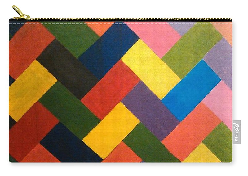 Abstract Carry-all Pouch featuring the painting ColorPS by Andrew Johnson