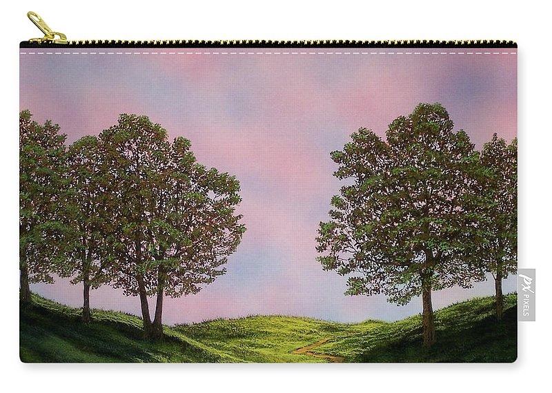 Landscape Carry-all Pouch featuring the painting Colors Of Dawn by Frank Wilson