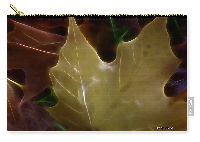 Fractalius Carry-all Pouch featuring the photograph Colors Of Fall by Deborah Benoit