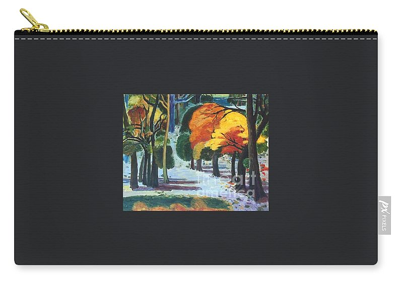 Colors Carry-all Pouch featuring the painting Colors Of Fall by Meihua Lu