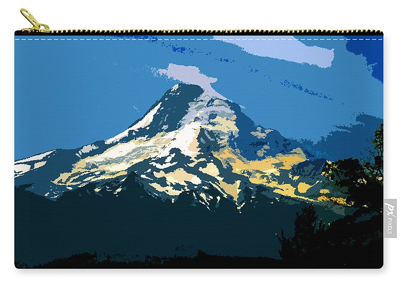 Mount Hood Carry-all Pouch featuring the painting Colors Of Hood by David Lee Thompson