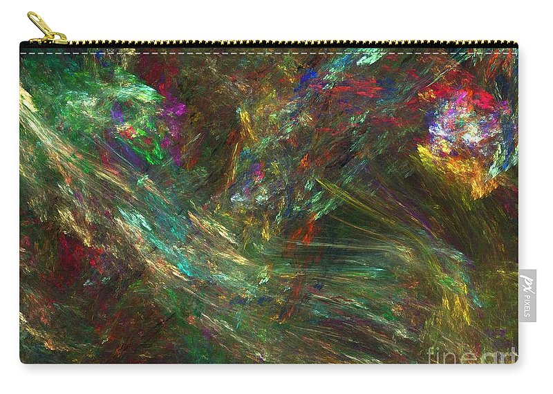 Fractals Carry-all Pouch featuring the digital art Colors Of Light by Richard Rizzo