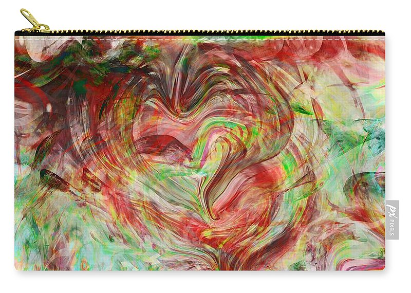 Abstract Art Carry-all Pouch featuring the digital art Colors Of Love by Linda Sannuti