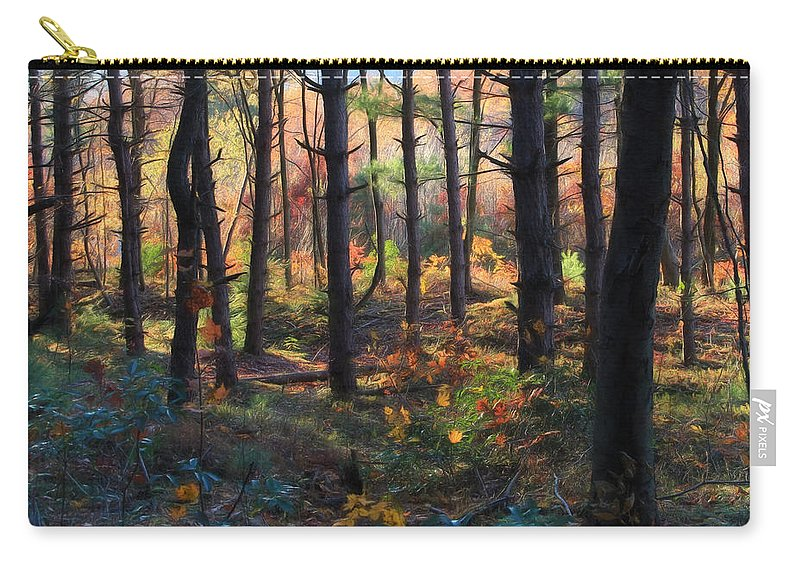 Forest Carry-all Pouch featuring the photograph Colors Of The Forest by Lori Deiter