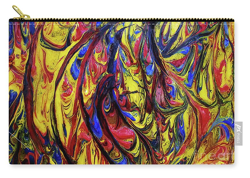 Art Carry-all Pouch featuring the painting Colors Of The Wind 1 by Nour Refaat
