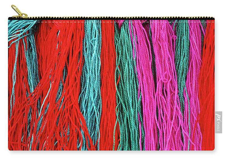 Tibet Carry-all Pouch featuring the photograph Colors Of Tibet by Michele Burgess