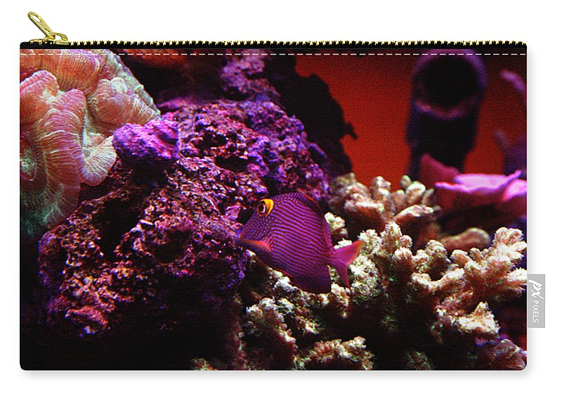 All Rights Reserved Carry-all Pouch featuring the photograph Colors Of Underwater Life by Clayton Bruster