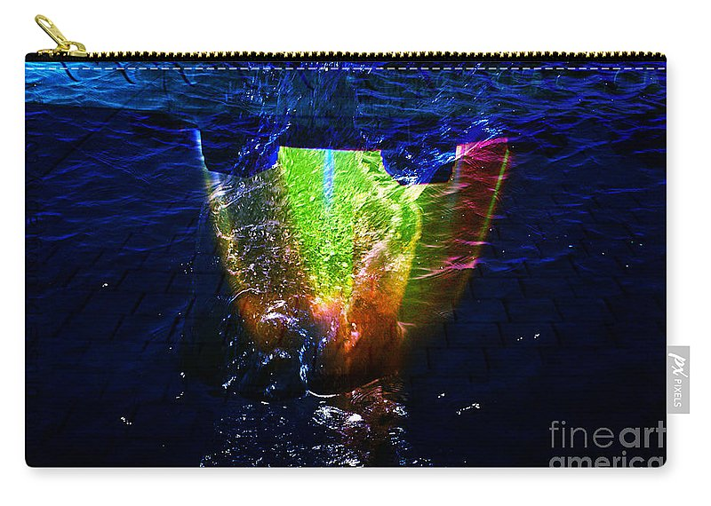 Clay Carry-all Pouch featuring the digital art Colorscope Collage In Water by Clayton Bruster