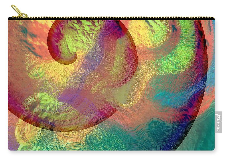 Abstract Carry-all Pouch featuring the digital art Colour Spiral by Grant Wilson