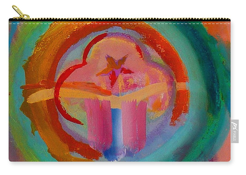 Logo Carry-all Pouch featuring the painting Colour States by Charles Stuart