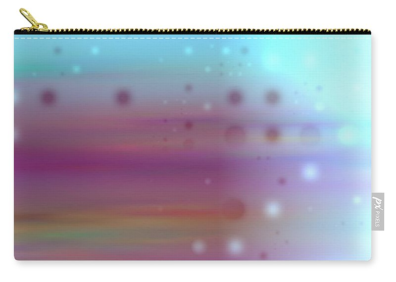 Art Digital Art Carry-all Pouch featuring the digital art Colour19mlv - Impressions by Alex Porter