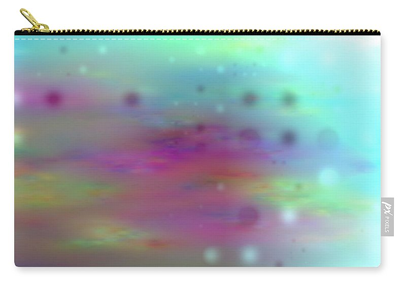 Art Digital Art Carry-all Pouch featuring the digital art Colour21mlv - Impressions by Alex Porter