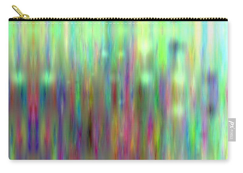 Art Digital Art Carry-all Pouch featuring the digital art Colour6mlv - Impressions by Alex Porter