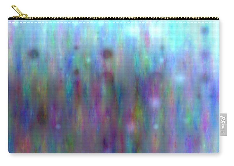 Art Digital Art Carry-all Pouch featuring the digital art Colour8mlv - Impressions by Alex Porter