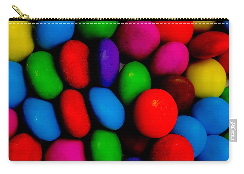 Negative Carry-all Pouch featuring the digital art Colourful Abstract by David Pyatt