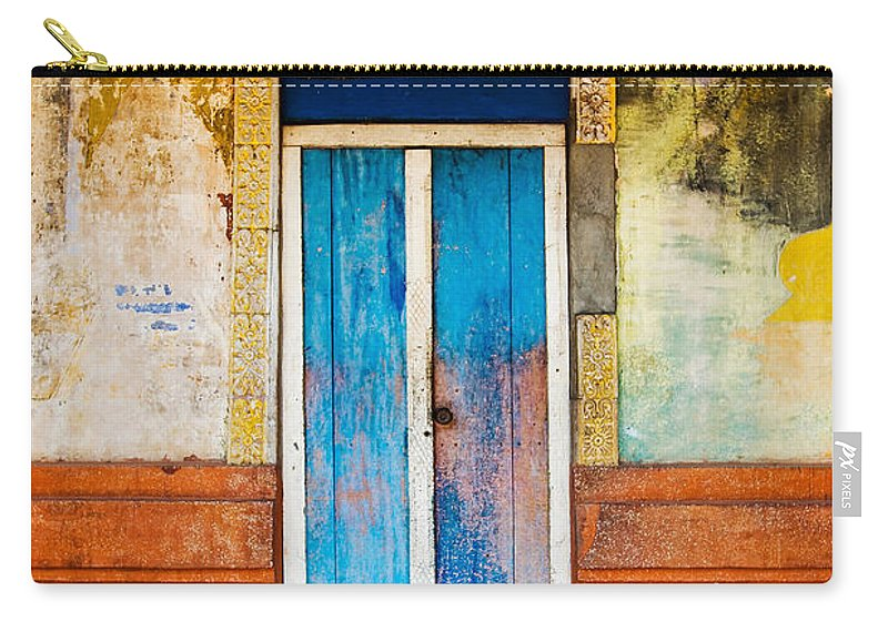 Cambodia Carry-all Pouch featuring the photograph Colourful Door by Dave Bowman