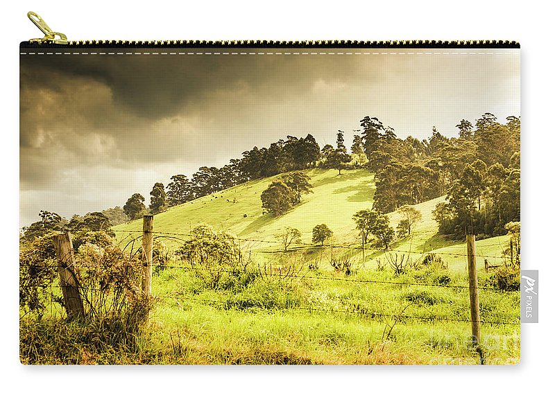 Farm Carry-all Pouch featuring the photograph Colourful Fields And Farmyards by Jorgo Photography - Wall Art Gallery