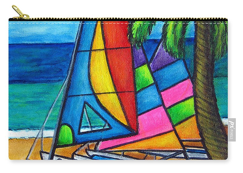 Water Carry-all Pouch featuring the painting Colourful Hobby by Lisa Lorenz