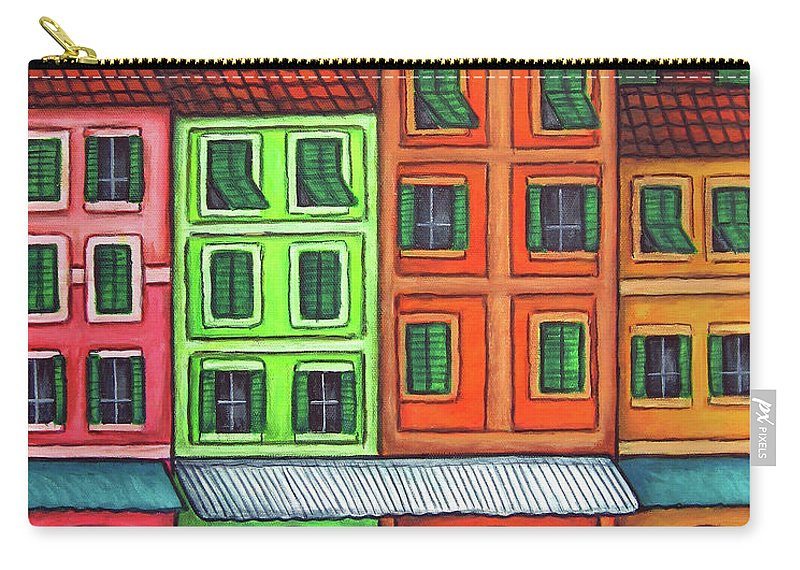 Italy Carry-all Pouch featuring the painting Colours Of Liguria by Lisa Lorenz