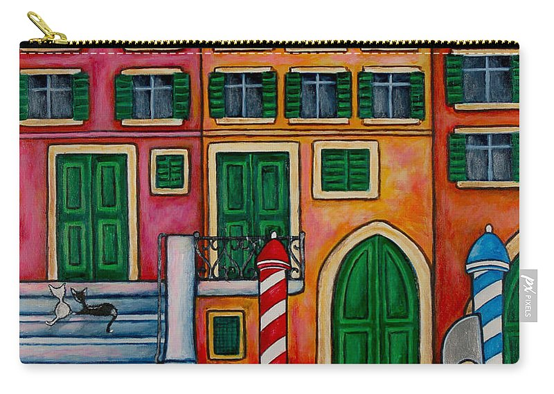 Venice Carry-all Pouch featuring the painting Colours Of Venice by Lisa Lorenz