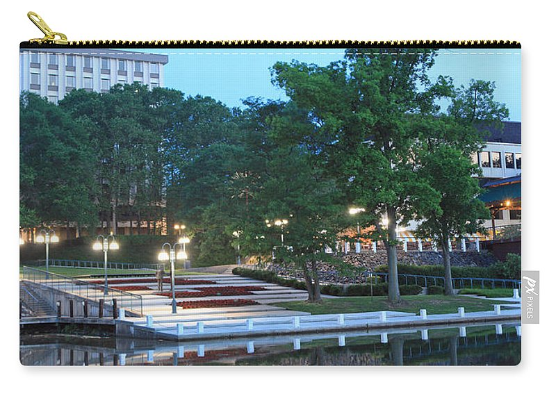 Columbia Carry-all Pouch featuring the photograph Columbia Lakefront Panorama by Ronald Reid