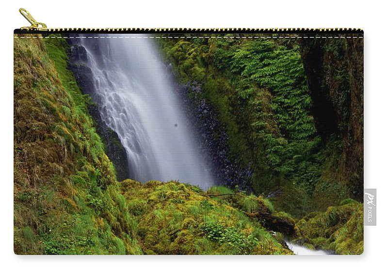 Waterfall Carry-all Pouch featuring the photograph Columbia River Gorge Falls 1 by Marty Koch