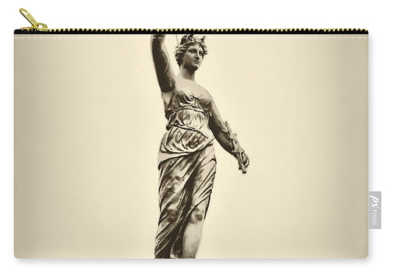 Philadelphia Carry-all Pouch featuring the photograph Columbia Statue Atop Memorial Hall by Bill Cannon