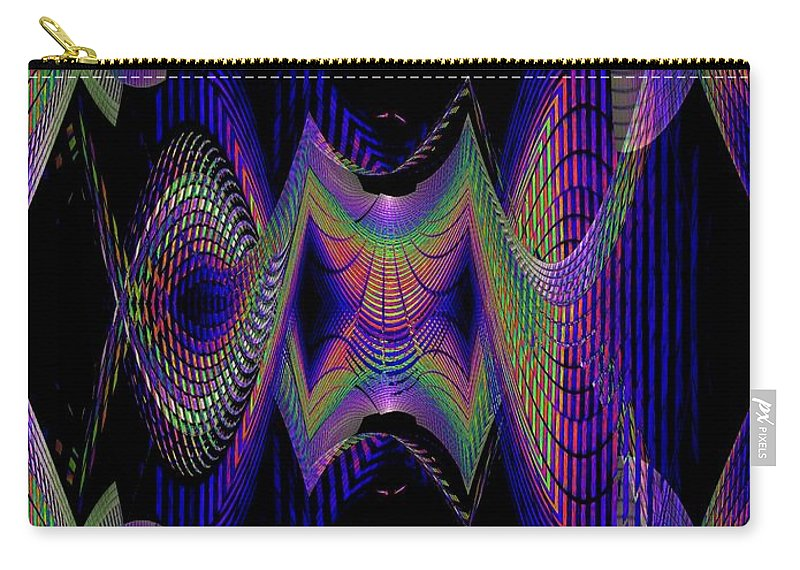 Seattle Carry-all Pouch featuring the digital art Columbia Tower Vortex 2 by Tim Allen