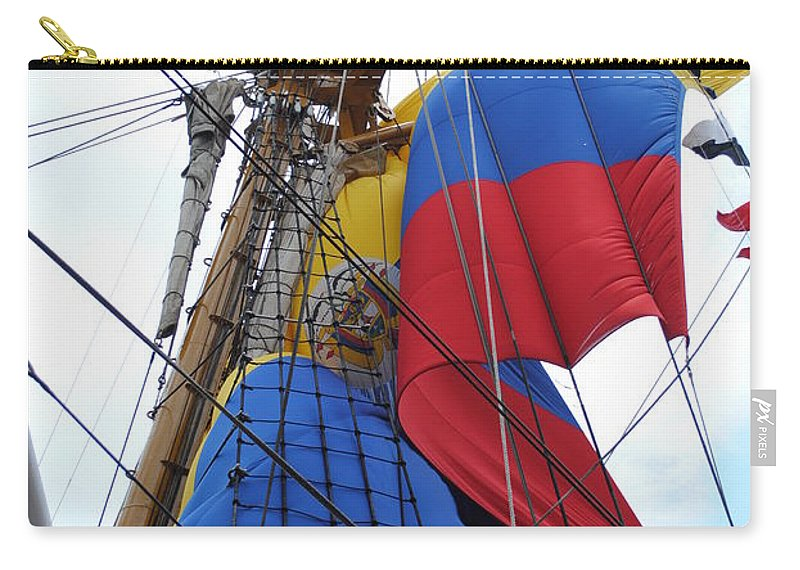 Columbia Carry-all Pouch featuring the photograph Columbian Mast by Jost Houk