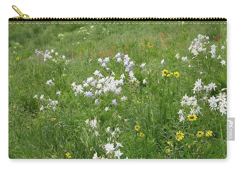 Crested Butte Carry-all Pouch featuring the photograph Columbine Cluster by Meagan Watson