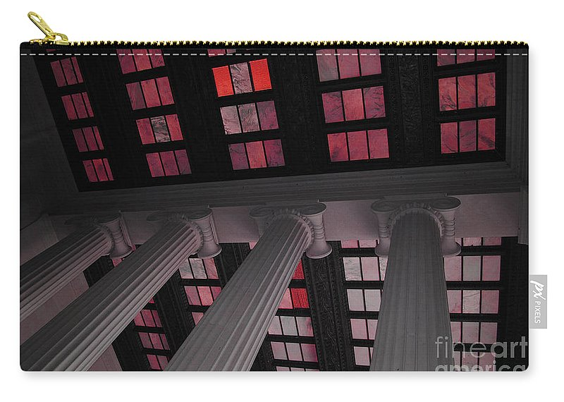 Lincoln Carry-all Pouch featuring the photograph Column Stain Red by Jost Houk