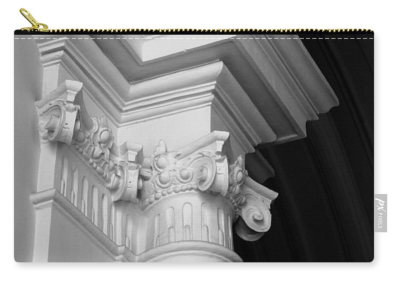 Architectural Elements Carry-all Pouch featuring the photograph Columns At Hermitage by Donna Corless