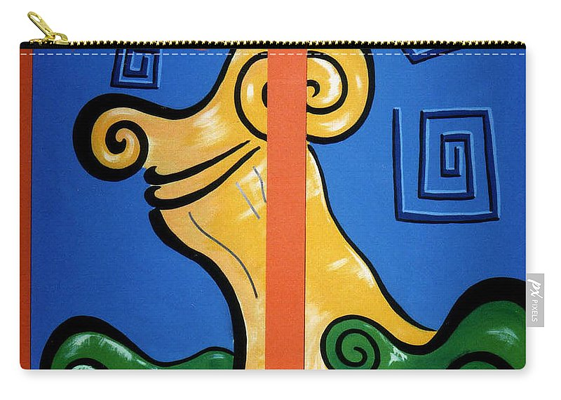 Carry-all Pouch featuring the painting Columns by Catt Kyriacou