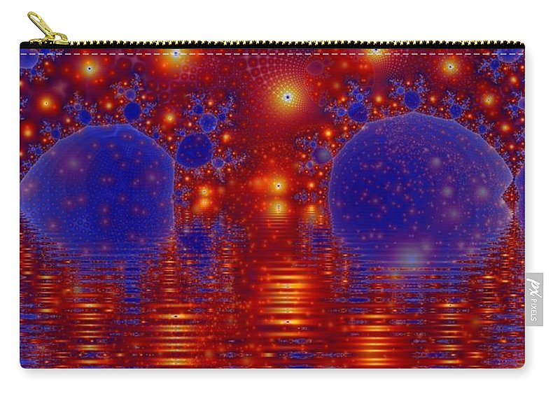 Fractal Art Carry-all Pouch featuring the digital art Combinations In Primordal Soup by Ron Bissett
