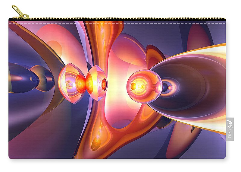 3d Carry-all Pouch featuring the digital art Combustion Abstract by Alexander Butler
