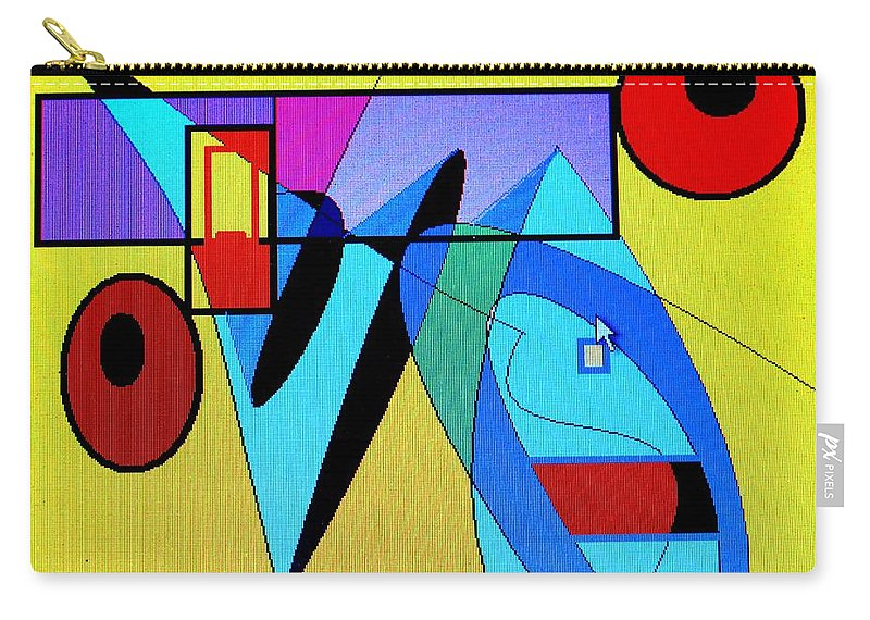 Horn Carry-all Pouch featuring the digital art Come Blow Your Horn by Ian MacDonald