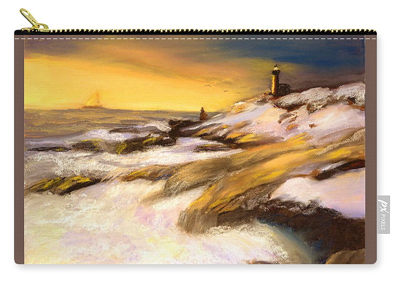 Seascape Carry-all Pouch featuring the painting Come Home by Gail Kirtz