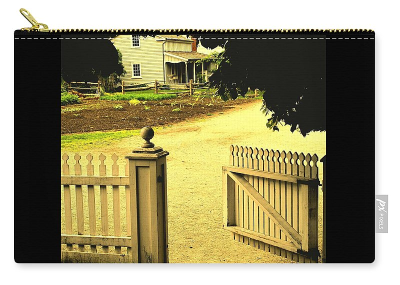 Farm Carry-all Pouch featuring the photograph Come On In by Ian MacDonald