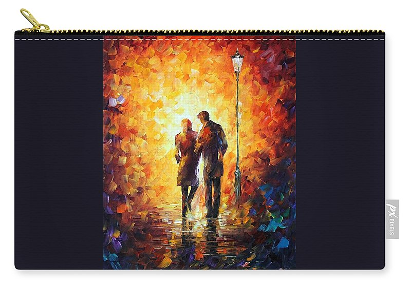 Afremov Carry-all Pouch featuring the painting Come Together by Leonid Afremov