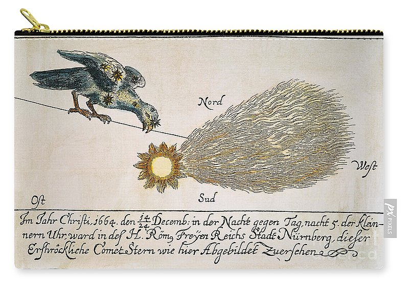 1664 Carry-all Pouch featuring the photograph Comet, 1664 by Granger
