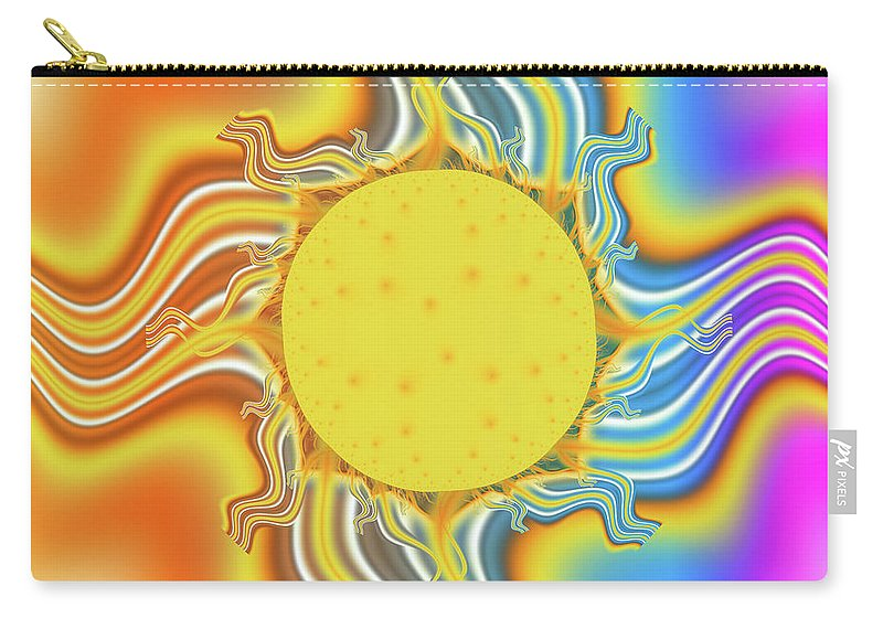 Fractal Carry-all Pouch featuring the digital art Comfort by Debra Martelli