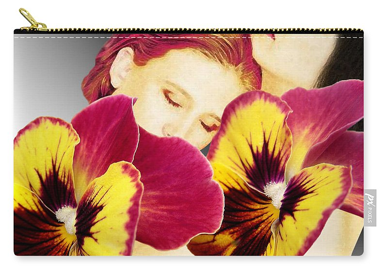 Fleurotica Art Carry-all Pouch featuring the digital art Comfort by Torie Tiffany