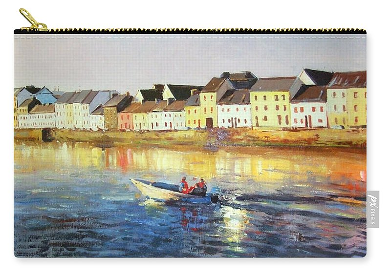 Seascape Carry-all Pouch featuring the painting Coming Home by Conor McGuire
