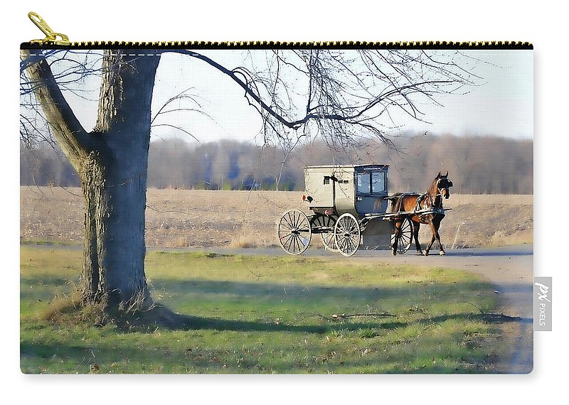 Amish Carry-all Pouch featuring the photograph Coming Home by David Arment