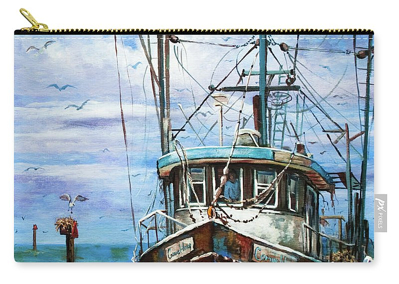 New Orleans Art Carry-all Pouch featuring the painting Coming Home by Dianne Parks